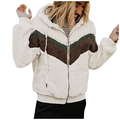 Lialbert Damen Plüsch Jacke Winterjacke Casual Übergangsjacke Teddy-Fleece-Jacke Plüsch Coat Faux Wolle Warm flauschig Plüschjacke Winterparka Mantel Plüschjacke Outwear Steppjacke