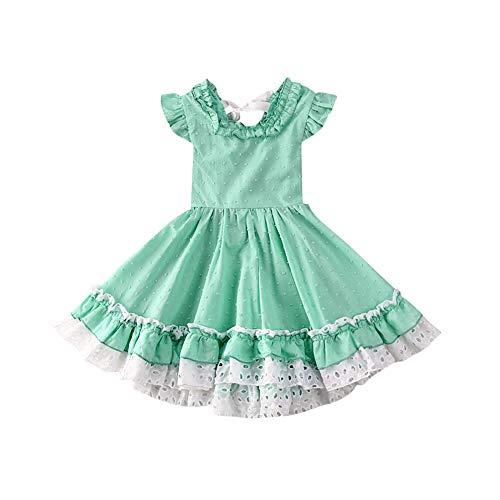 Brede Kleine Meisje Kant Jurk Prinses Jurk Ruche Tuniek Jurk Tutu Jurken Rok Lente Zomer Outfits Set