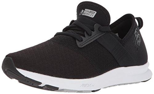 New Balance Women's FuelCore Nergize V1 Sneaker, Black/White/Mesh, 6 M US