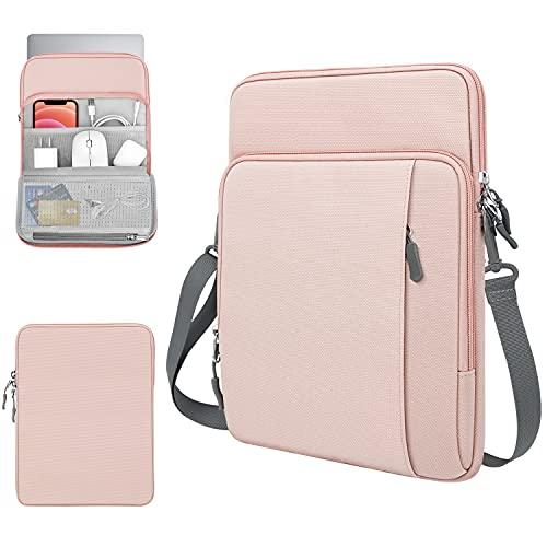 """TiMOVO 13.3 Pollici Tablet Custodia Compatibile con iPad PRO 12.9 2021/2020, MacBook Air 13 Pollici, MacBook PRO 13"""", Galaxy Tab S7+, Surface PRO X/7/6/5/4/3, Borsa con Tracolla, Rosa"""
