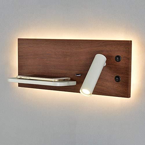 LED leeslamp nachtlicht achterlicht wandlamp USB draadloze wandlamp slaapkamer wandlamp wandlamp wandlamp wandlamp donker patroon 2700k rechterkant