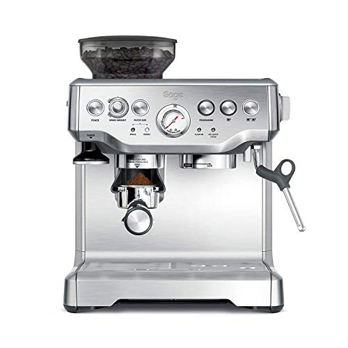 Sage BES875UK The Barista Express with Temp Control Milk Jug, Brushed Stainless Steel