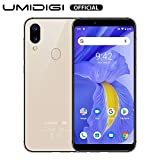 UMIDIGI A3 Updated Version Android 9 Pie Smartphone Unlocked Dual 4G Volte 5.5' Incell 18:9 Full-Screen Display Triple Slots Face Unlock 3300mAh Battery 12MP + 5MP Dual Camera.