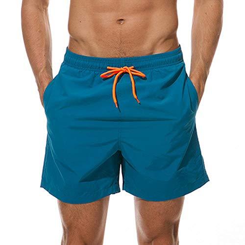 TUOP - Bañador para hombre, Primavera-Verano, Hombre, color azul (pavo real), tamaño XL