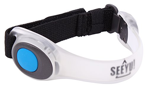 SeeYu, Braccialetto da Running con LED, Blu (Blue)