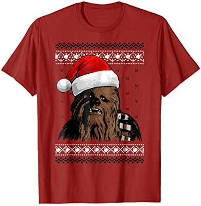 Star Wars Chewie Santa Hat Ugly Christmas Sweater T Shirt product image