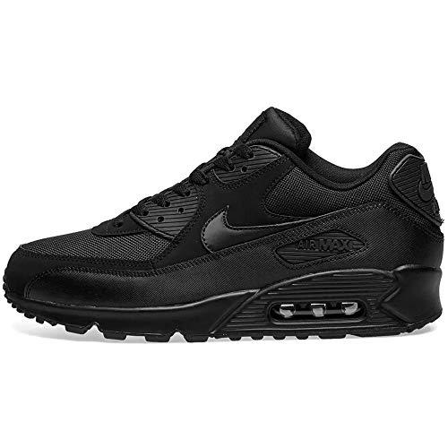 Nike Air Max 90 537384, Herren Sportschuhe, Schwarz (Black/Black/Black/Black), 38.5 EU