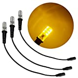 3 pack amber special effects led 12 volts dc with foam wood mounting cable socket dc barrel connector for themed entertainment props theatrical scenery marquees costume lighting