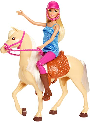 Barbie Muñeca con caballo de juguete + 3 años (Mattel FXH13)