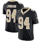 YDYL-LI Camiseta De Camiseta De Los Hombres De Jersey De Fútbol Americano Camiseta # 94 Cameron Jordan Rugby Fan Training Jersey Tops Grandes, Cómodo,Negro,L