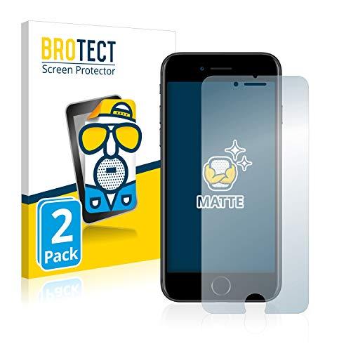 brotect Pellicola Protettiva Opaca Compatibile con Apple iPhone 7 8 Pellicola Protettiva Anti-Riflesso (2 Pezzi)