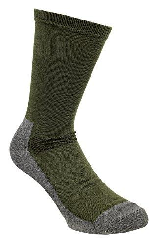 Pinewood Coolmax-Liner – Chaussettes Unisexe, Vert/Gris, 37-39
