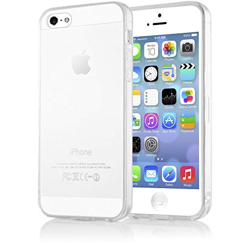 NALIA Handyhülle kompatibel mit iPhone 5 5S SE, Ultra-Slim Silikon Case Cover Schutzhülle Dünn Durchsichtig, Handy-Tasche Telefon-Schale Skin Back-Cover Etui Smart-Phone Bumper - Transparent