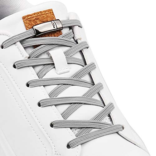 Aiboxin Upgraded Version No Tie Elastic Shoelaces, With Magnetic Shoe Laces Lock - One Size Fits All Adult & Kids
