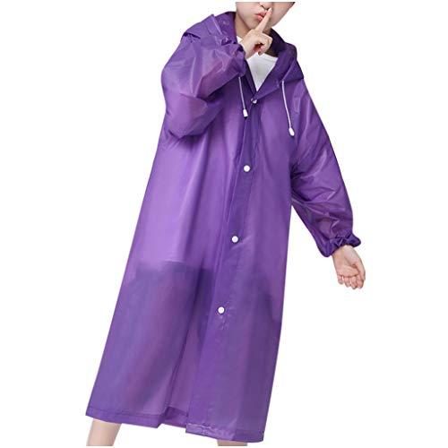 Zarupeng Waterdichte regencape voor kinderen, outdoor, transparant, regenponcho, eva-regenjas, draagbaar, lichte regenjas met capuchon