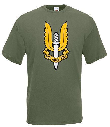 Settantallora - T-Shirt Maglietta J510 Special Air Service SAS Taglia L
