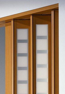 Zusatzlamelle für Falttür New Generation Fb. Buche - Fenster Karo weiss-satiniert B 14 x H 205 cm
