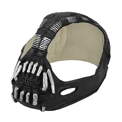 Fantasyworld Maske Universal-Bane Batman Cosplay Helm 3D Bane Latex Maske mit Stimmenverzerrer Halloween Kostüm Zubehör für Partei