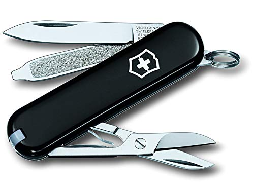 Victorinox Classic SD Taschenmesser (7 Funktionen, Klinge, Schere, Nagelfeile)