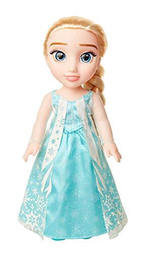 Jakks 204354 - Disney Frozen Puppe Elsa aus dem Film Die Eiskönigin, ca. 35 cm groß, beweglich, mit Royal Reflection Augen, originalgetreues Outfit, für Kinder ab 3 Jahre