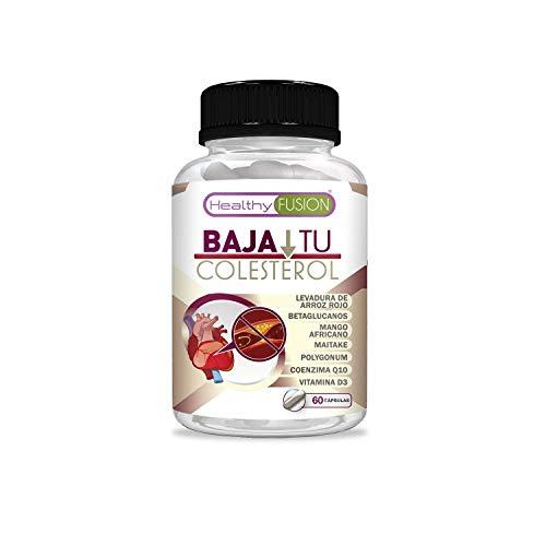 Potente tratamiento para el colesterol | Reduce y mantiene en niveles estables y sanos el colesterol | Levadura de Arroz Rojo, Coenzima Q10, Resveratrol, Mango Africano y Vitamina D | 60 cápsulas