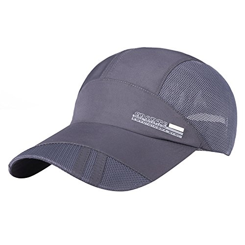 Gorra transpirable de béisbol unisex monocolor, gorra deportiva de malla, ajustable, talla única, para senderismo al aire libre