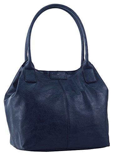 TOM TAILOR Shopper Damen, MIRIPU, (blau 50), 44x28x18 cm, TOM TAILOR Schultertasche, Handtaschen Damen