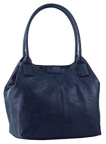 TOM TAILOR Damen Taschen & Geldbörsen Shopper Miri in Leder-Optik dark blue cognac,OneSize