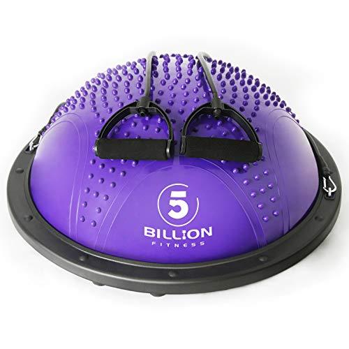 Balance Trainer Fitball Bola de Equilibrio para Entrenamiento 60cm con Inflador y Bomba para Fitness Gimnasio (Morado)