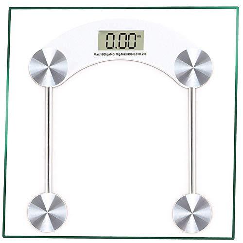 Online-shoppee Báscula de baño digital BodyTone digital | Báscula de pesaje corporal con pantalla LCD | Báscula de peso cuadrada con tecnología Step-On | 180 Kg