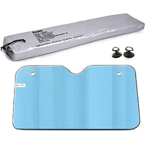 Vouw Car Zonnescherm, zonnescherm Isolatie Cool Down aluminiumfolie met een dikte Car Zonblok zonneklep Protection Silver Child Pet (Color : Blue, Size : 130 * 70cm)
