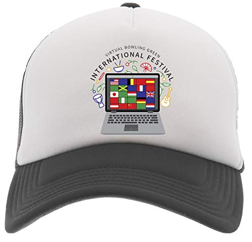 Virtual International Festival Gorra De Béisbol Camionero Negro Baseball Trucker Cap Black