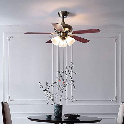 Ventilador de techo de luz ventilador de control remoto ventilador moderno hogar lámparas sala de estar comedor dormitorio 5 cabezas-3 cabezas