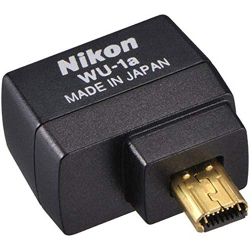Nikon WU-1a Wireless Mobile Adapter 27081 for Nikon Df, Nikon 1 S2, COOLPIX P530, D3300, COOLPIX P7800, COOLPIX P330, COOLPIX A, D7100, COOLPIX P520, D5200, D3200 (Renewed)