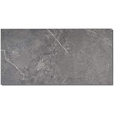 Cippia 28mil 6 in. x 8 in. Marble Dark Gray Rigid Click-Lock Luxury Vinyl Sample
