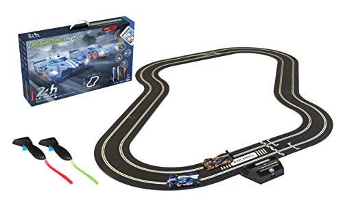 Scalextric ARC Pro App Race Control 24h Le Mans Slot Car Digital 1:32 Slot Car Road Race Track Set C1404T,Blue & Gray
