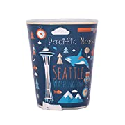 Pacific Northwest Theme Unique Nautical and Hiking Icons Orange Interior Hand Wash Only