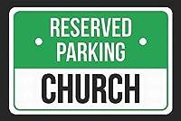 Reserved Parking Church 金属板ブリキ看板警告サイン注意サイン表示パネル情報サイン金属安全サイン