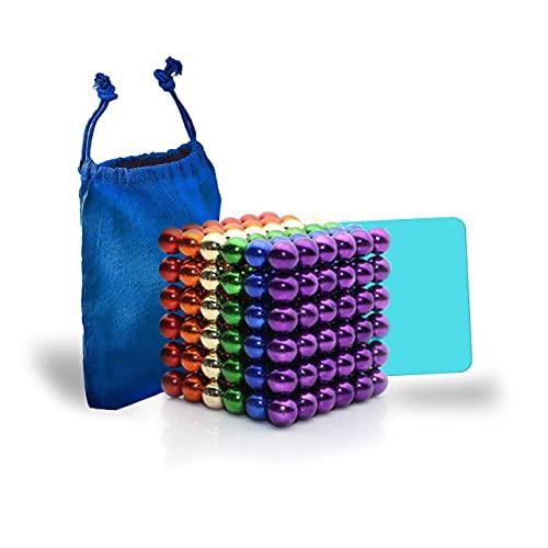 Desconocido Bolas magnéticas de Colores 5mm 216 Piezas – Bolitas magnéticas – Bolas de imán para aliviar el estrés – Magnetic Balls