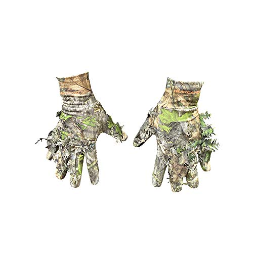 3D Leafy Camo Hunting Gloves   NWTF Mossy Oak Obsession   White-Tailed Deer, Elk, Predator, Big Game, Small Game, Waterfowl, Bird and Turkey Hunting Gloves (Large-XL)