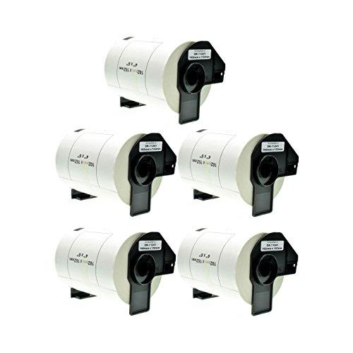 Logic-Seek 5X Versand-Etiketten kompatibel für Brother DK11241 - je 200 Stück - 102mm x 152mm P-Touch QL-1050 1050N 1060N