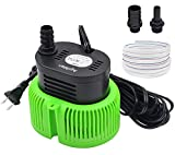 Pool Cover Pump above Ground - Submersible Water Sump Pump Swimming Water Removal Pumps, with Drainage Hose & 25 Feet Extra Long Power Cord, 850 GPH inGround, 3 Adapters