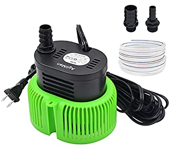 Pool Cover Pump above Ground - Submersible Water Sump Pump Swimming Water Removal Pumps with Drainage Hose & 25 Feet Extra Long Power Cord 850 GPH inGround 3 Adapters