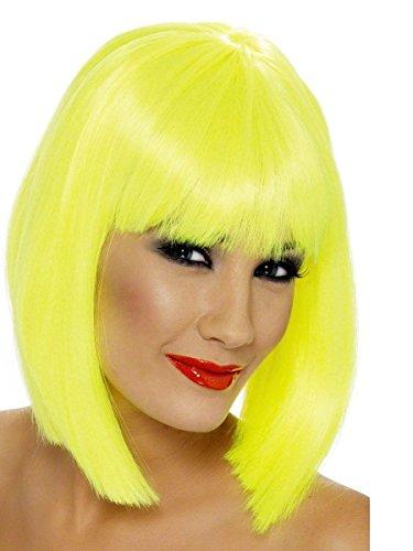 Perruque glamour jaune fluo