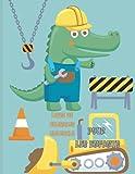 Livre de coloriage crocodile pour les enfants: Plus de 15 livres de coloriage alligator mignon et amusant pour la détente des enfants et des adultes.