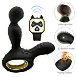 Male Prǒstate Massager Automatic Heated 360° Rotation Slient Soft Skin-Friendly for Back Neck Shoulder Relaxation Deep Tissue Massage Multiple Vibration Speed and Patterns Tshirt - Vibrant