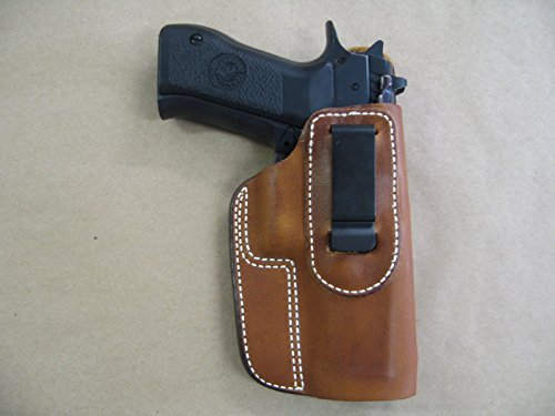 Azula IWB Leather in The Waistband Concealed Carry Holster for CZ 75 SP-01 SP01 TAN RH