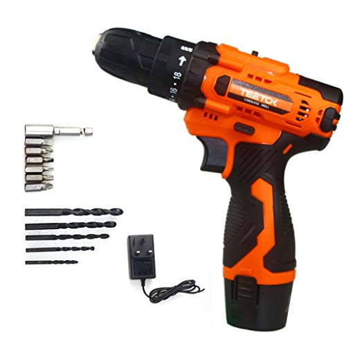 12V Cordless Drill Driver Kit, Combi Drill with Li-Ion Batteries 1500mAh, Fast Charger, 2-Speed, 18+1 Torque Setting, Charger, Ideal for Home and DIY