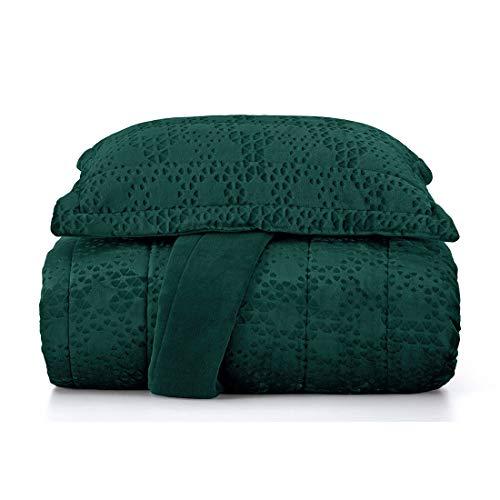 Jogo de Colcha Vogue Plush Casal Altenburg Verde Casal Tecido