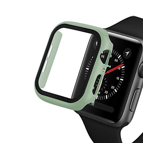 Flyuzi Reloj Funda para Apple Watch 5/4 40mm 44mm Caso PC Parachoques Protector de Vidrio Templado Película para iWatch Series 3/2 38mm 42mm Cubierta